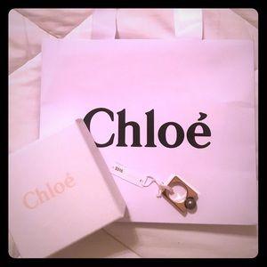 Chloe Gold Earl Grey Pearl Ring